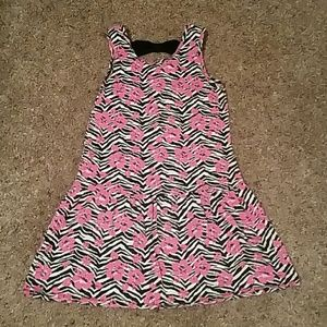 Faded Glory zebra and floral dress